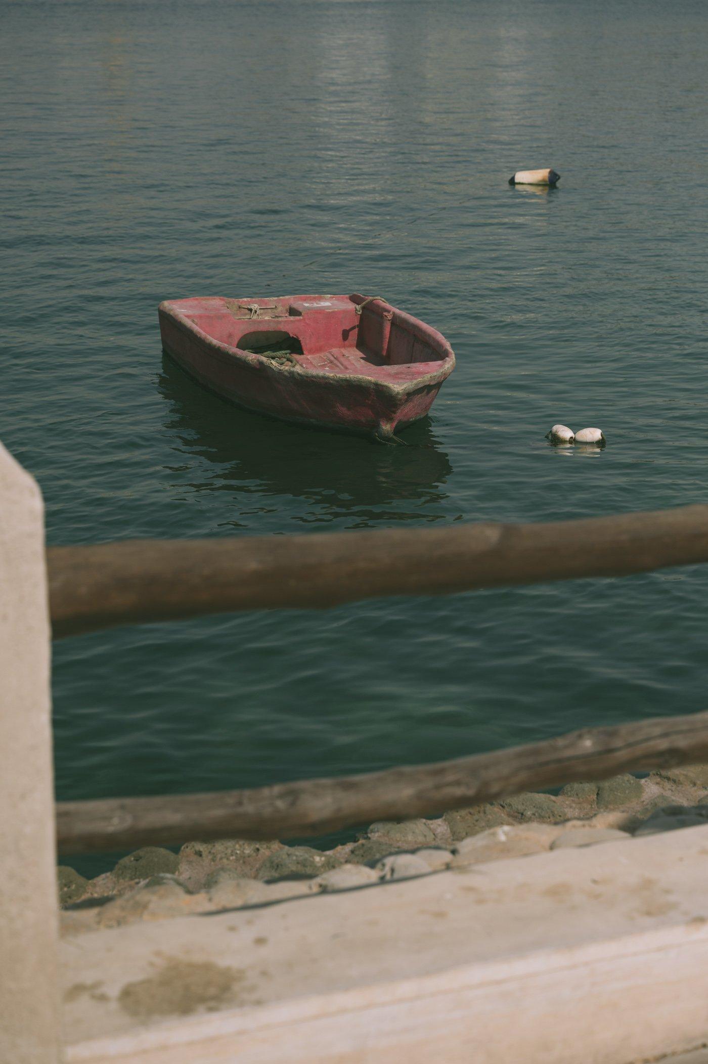 An old wooden boat at Al Shindagha in Dubai Creek