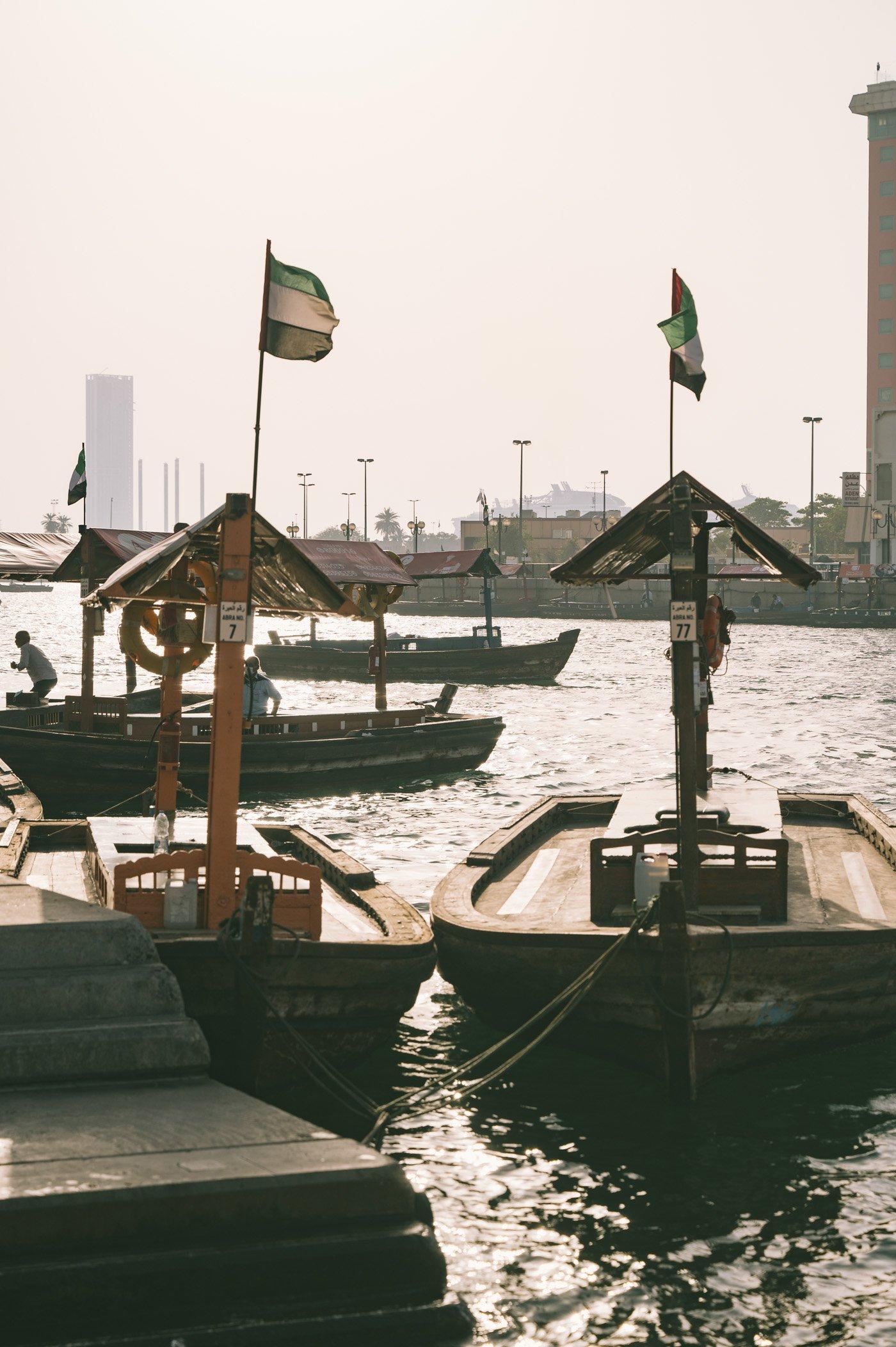 Traditional Abras at Dubai Creek