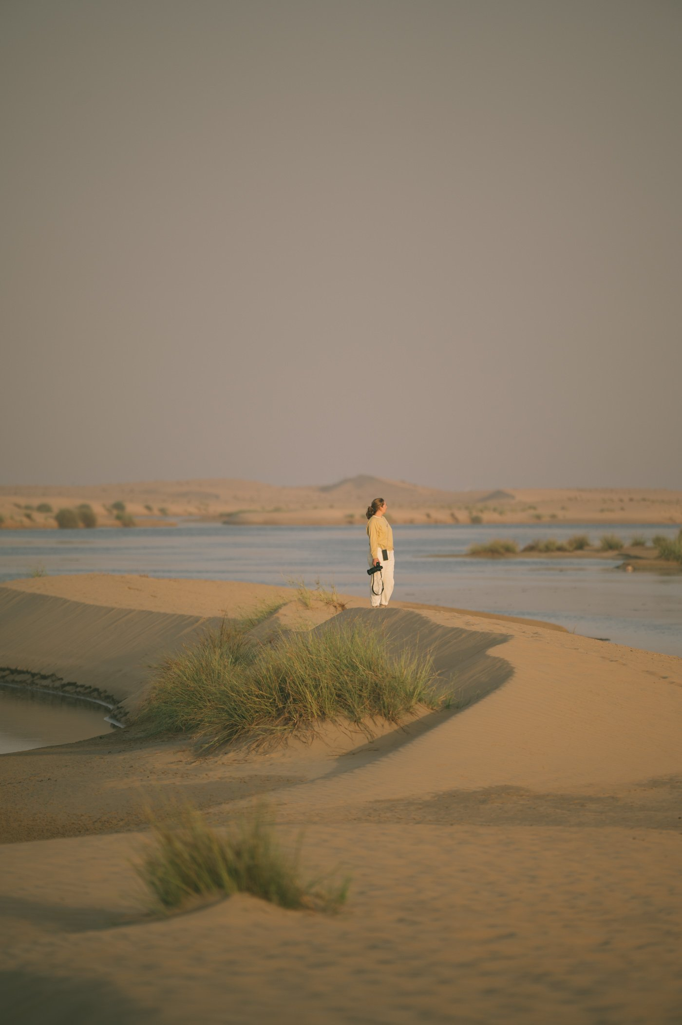 Hidden desert lakes in Dubai