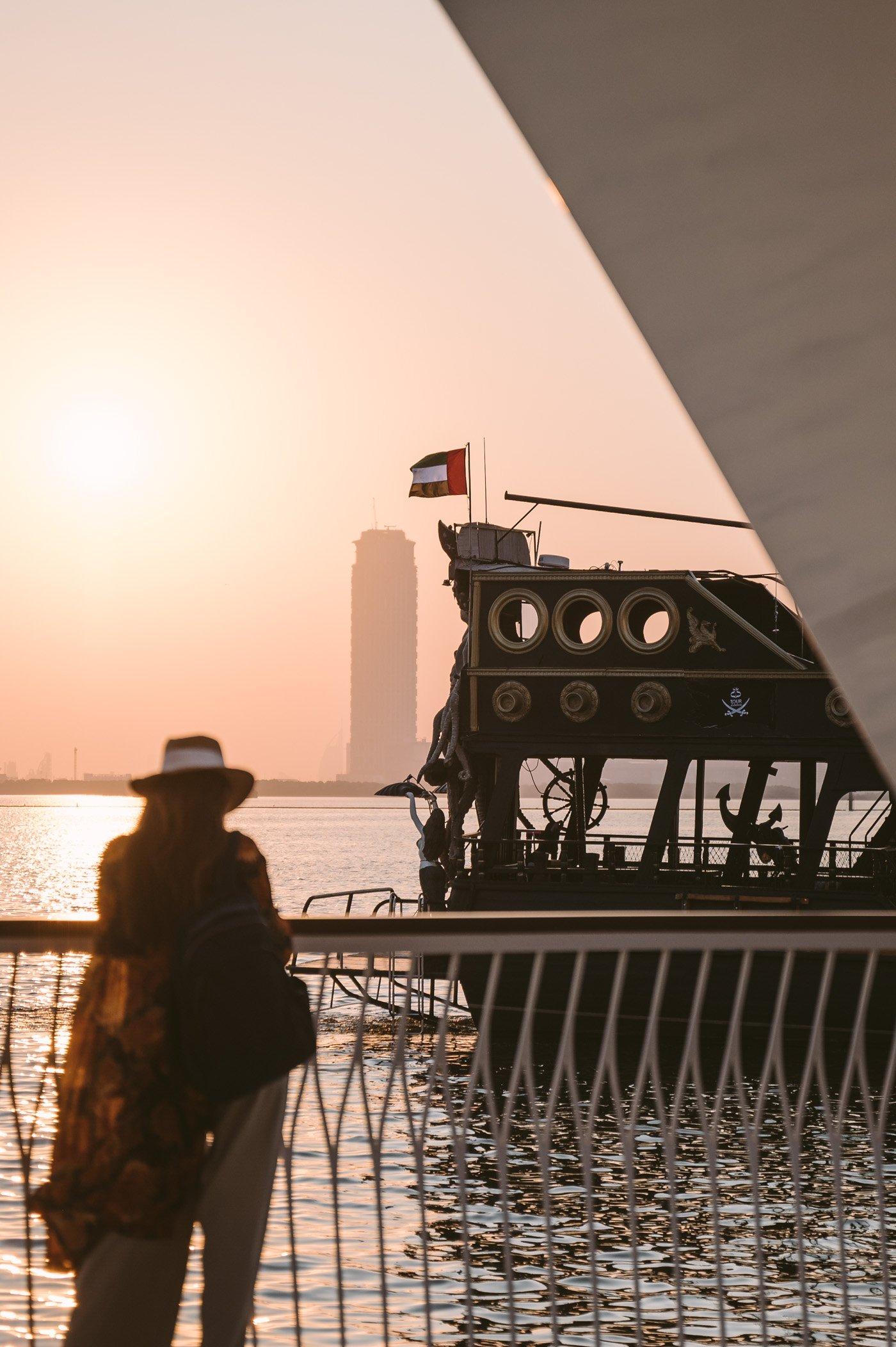 Sunset at Vida Creek Harbour in Dubai