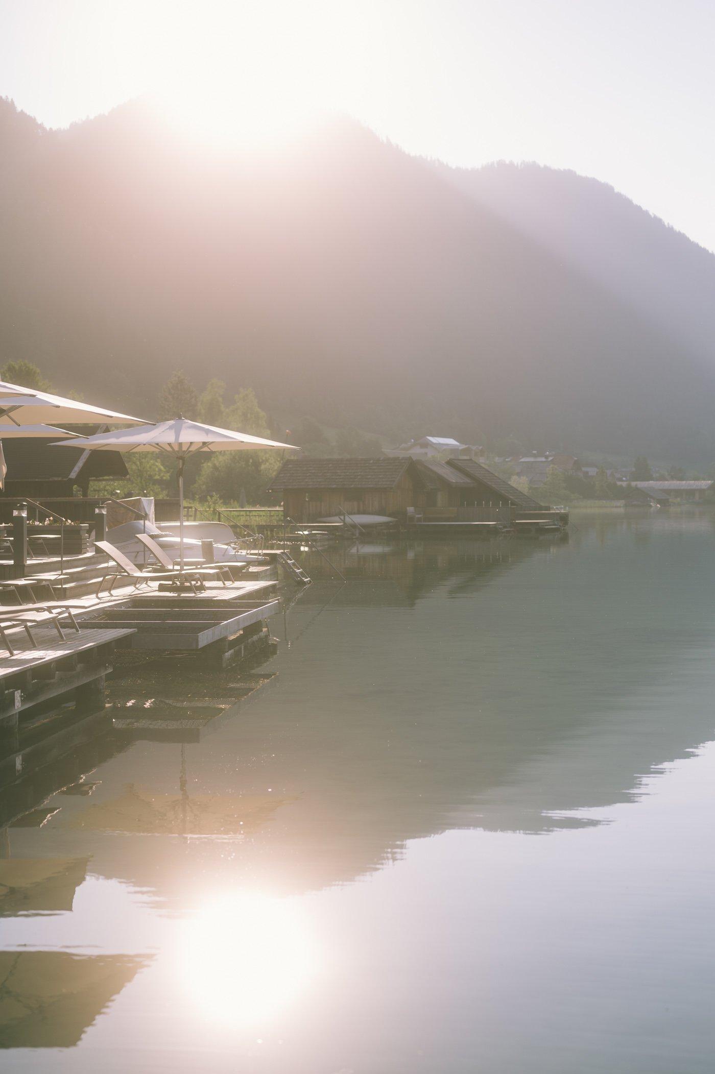 Lake spa of Strandhotel Weissensee