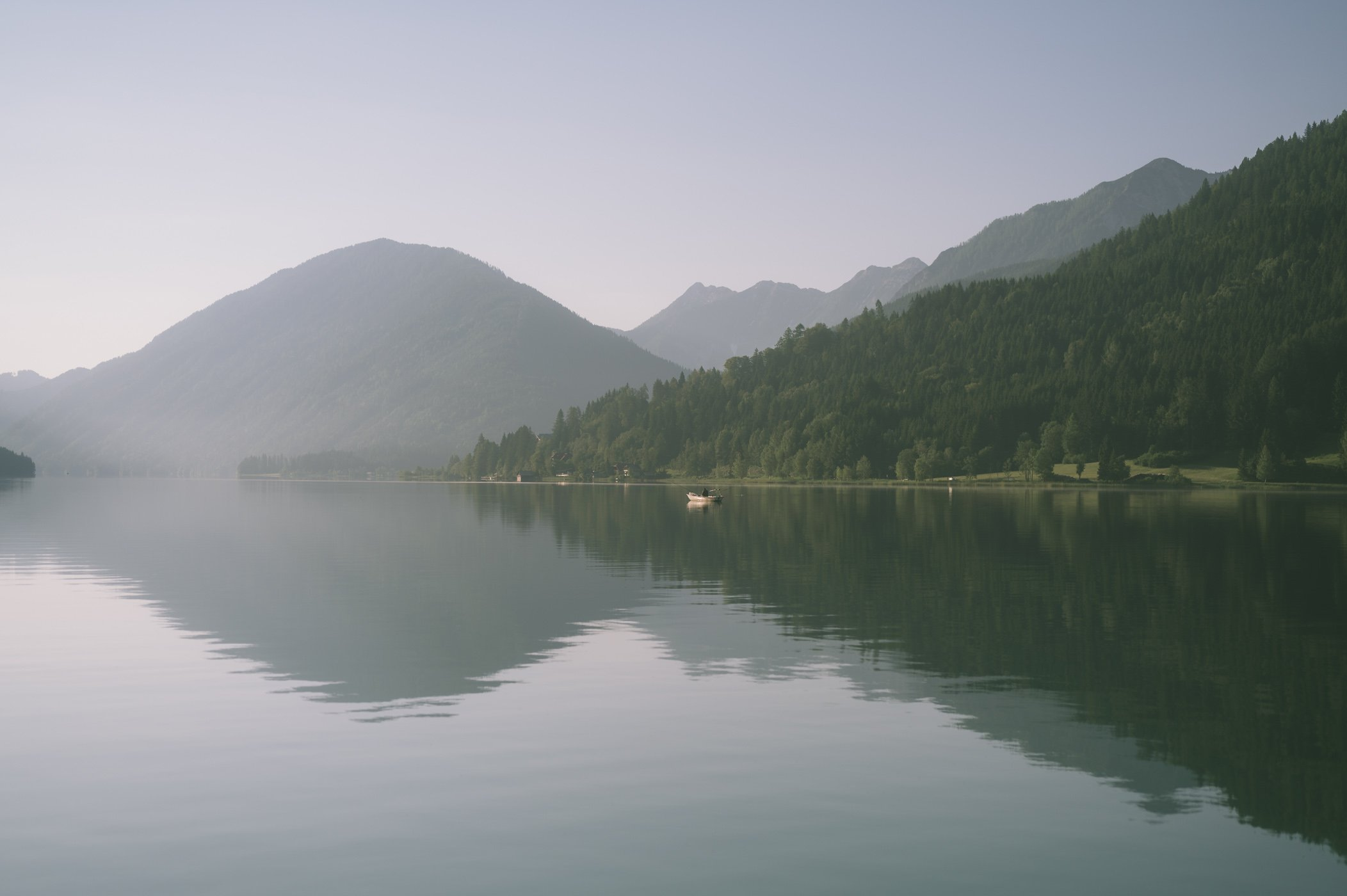 Lake Weissensee in the morning