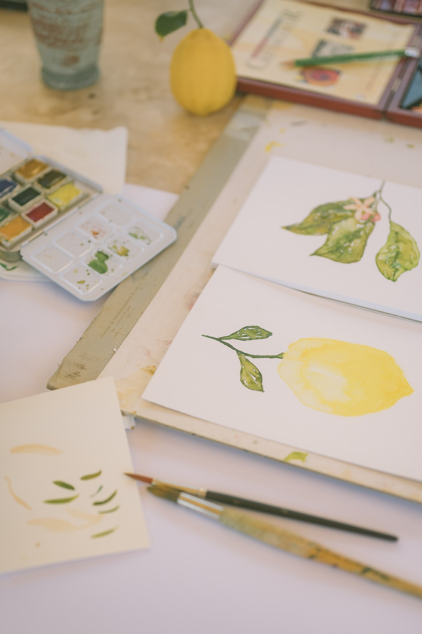 Watercolor class in Tuscany